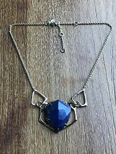 NEW Alexis Bittar BLUE LAPIS Geometric Statement Interlocking Bib Necklace $275