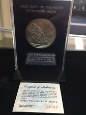 1st Step on the Moon Eyewitness Sterling Silver Medal
