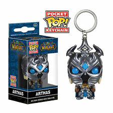 Funko World Of Warcraft Pocket POP Arthas Vinyl Figure Keychain NEW WOW Toys