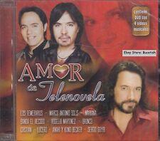 Los Temerarios Marco Antonio Solis Bronco Amor de Telenovela CD+DVD New Sealed