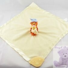 780 - Doudou plat ecru Tigrou satin DISNEY BABY - Security blanket