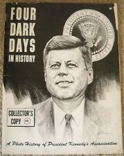 FOUR DARK DAYS IN HISTORY MAGAZINE JOHN F KENNEDY COVER 1963 COLLECTOR's COPY