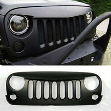 US Jeep Wrangler 07-15 Angry Bird Style Mesh Matte Black Front Hood Bumper Grill