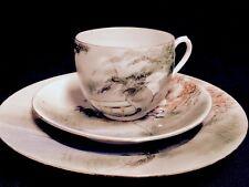 JAPANESE EGGSHELL PORCELAIN TRIO - CUP, SAUCER, PLATE- CIRCA 1920 #3