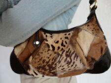 NEUF Sac à main pochette en cuir poulain fauve Francesco BIASIA