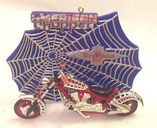 CARLTON CARDS BLACK WIDOW BIKE AMERICAN CHOPPER SERIES CHRISTMAS ORNAMENT EC