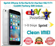 1-5 DAYS Sprint Boost iPhone 5c/5s/6/6+/6s/6s+/SE/7/7+ SIM Unlock Service CLEAN