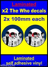 Laminated 2x The Who B&w RAF Roundel Mod Target Scooter Decals stickers Vespa
