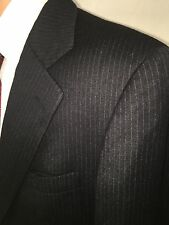 EUC NEIMAN MARCUS SANDHURST MENS WOOL SPORTS COAT BLAZER SUIT JACKET SZ 38R BLK
