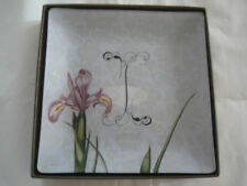 Fringe Studio Glass Trinket Vanity Tray#511059  MONOGRAM I-NIB