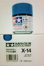 Tàmiya acrylic paint. X-14 Sky blue, 23ml