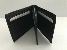 Mens Genuine Leather Bifold Two Currency Double Hipster Wallet New