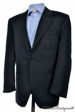 LUCIANO BARBERA Solid Black Wool Sport Coat Blazer Jacket - 40 R