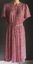 Vintage VIVA FLEUR Multi Coloured Floral PrintElasticised Waist Dress Size 14/16
