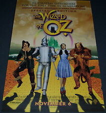 THE WIZARD OF OZ 1998 REISSUE ORIGINAL D.S. 27x40 MOVIE POSTER! NOT A REPRO!!