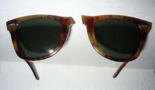 DEFEKT! Vintage Ray Ban B&L USA Wayfarer Fire Tortoise orig. case G 15lense