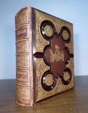 Vintage Tooled Leather Pictorial HOLY BIBLE Testaments, Apocrypha, Concordance +
