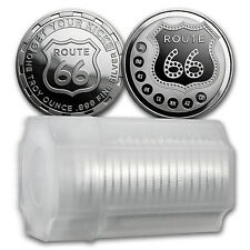 1 oz Silver Route 66 Round - (Lot, Roll, Tube of 20) - SKU #114814