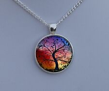 Tree of Life Necklace Pendant - Silver Charm & Chain - Gifts for Her Mum Girls