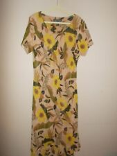 A Wild Thyme Womens Size 22 Multi-Color Floral Long Sheath Dress Short Sleeve