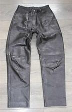 "Vintage Brown Leather Biker Motorcycle Trousers Pants Jeans Size W25"" L26"""
