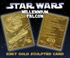 STAR WARS Millennium Falcon Genuine 23K GOLD CARD * $4.95 Officially Licensed