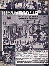 Coupure de presse Clipping 1963 Elizabeth Taylor  (1 page)