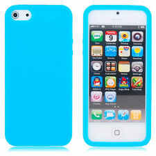 Funda SILICONA Azul CLARO iPhone 5 5S