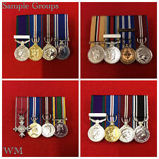 4 x Supplied & Court Mounted Miniature Medal Group Choose Your Miniature Medals