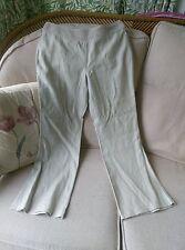 Next Trousers 100% Linen Beige Trousers Regular Length 30L Size 12 Crochet Waist