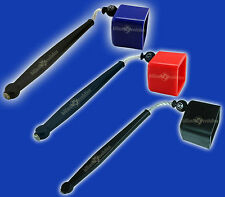 3 (Blue/Red/Black) Pocket Chalkers - Pool & Billiards Cue Chalk Holder/Chalker