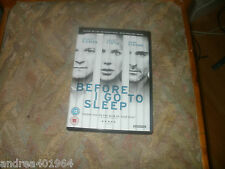Before I Go To Sleep        2014 15 Starring: Nicole Kidman  uk dvd