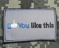 YOU LIKE THIS THUMBS UP FACE BOOK ACU TACTICAL US USA ARMY IRON ON MORALE PATCH