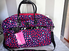 betsey johnson luggage,carry  overnighter  weekender love ,heart