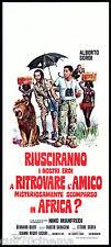 RIUSCIRANNO I NOSTRI EROI... LOCANDINA CINEMA MANFREDI SORDI ETTORE SCOLA 1968