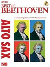 Best Of Beethoven Alto Saxophone Learn to Play Sax Sheet Music Book & CD
