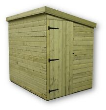 7X7 GARDEN SHED SHIPLAP  PENT ROOF TANALISED DOOR RIGHT END