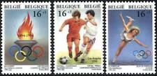 Belgium**Belgian Olympic Games Federation&Flame-Football-Skating-3vals-1994-MNH
