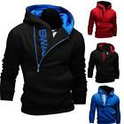 Men Casual Fleece Cardigan Hoodie Jacket Zipper Hoody Hoodies Slim Sweatshirt XG