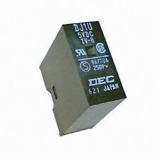 PCB SPST Relay - Coil 5V DC - Contact 8A 125V AC DJ1U-5VDC TV-8
