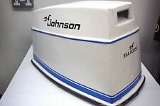 JOHNSON 60hp OUTBOARD ENGINE COMPLETE HOOD - ELECTRIC START - 3 CYLINDER 1970's