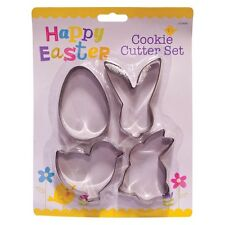 4 Pack Easter Cookie Cutter Set Bunny Pollo Huevo Chick Conejo Fondant Galleta