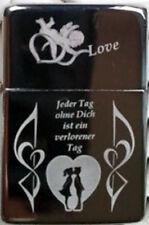 Liebesgeschenk Feuerzeug als Fotogravur inkl eigene Textgravur auf der Rückseite