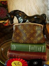 RARE Vintage LOUIS VUITTON FC Kisslock Coin Wallet  Handbag Accessory Case Saks