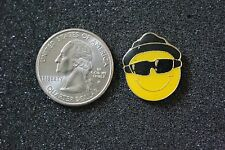 Yellow Smiley Face Blues Brothers Hat Sunglasses Pin Pinback #15545