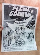 "VTG 1974 ""FLESH GORDON"" X RATED ORIG RELEASE PROMO PRESSBOOK FOLDED"