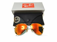 Ray-Ban Sunglasses RB3025 112/69 58-14 Aviator Orange Flash Lenses