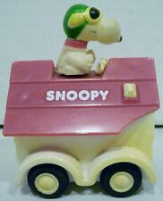 Aviva Peanuts Snoopy Red Baron Driving Doghouse Car