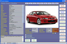 Car Maintenance Database Software Computer Log Book for Windows 7/8/10 XP Vista