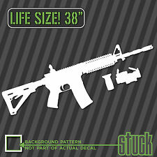 "Life-size AR15 38"" - Vinyl Decal Sticker Gun Ar-15 ar stuck ammo stickers  -79"